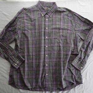 Gitman Bros. 2XL Purple Plaid 100% Cotton Master